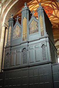 The Milton Organ At Tewkesbury Abbey